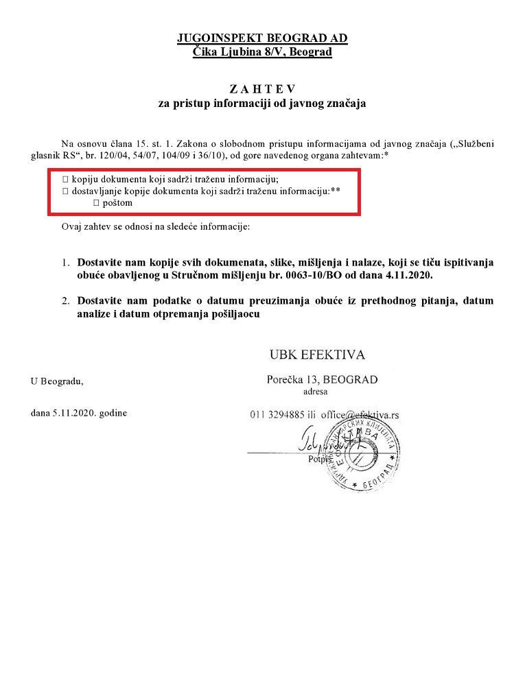 Pristup inf - Jugoinspekt DG